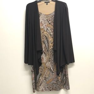 Paisley Dress with attached Cardigan